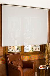 Beyaz Keten Cam Elyaf Screen Stor Perde