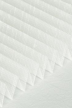 Beyaz Kırçıllı Seri Tül 14mm Cam Balkon Plise Perde