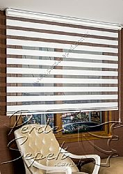 Beyaz Misty Zebra Perde - 4