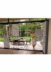 Beyaz Mozaik Serisi 14mm Cam Balkon Plise Perde - 2