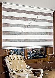 Beyaz Sahra Pileli Zebra Perde - 4