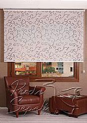 Beyaz Şal Desenli Mucize Serisi Stor Perde - 2