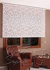 Beyaz Şal Desenli Mucize Serisi Stor Perde - 3