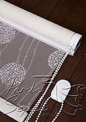 Beyaz Top Desenli Deluxe Dantella Serisi Stor Perde - 5