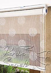 Beyaz Top Desenli Deluxe Dantella Serisi Stor Perde - 4