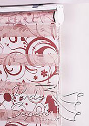 Çiçekler Baskılı Zebra Perde - 6