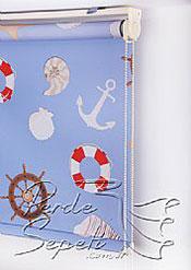 Denizci Baskılı Klasik Stor Perde - 5