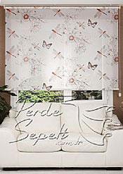 Yusufçuk Desenli Design Stor Perde - 2