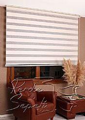 Ekru Bamboo Star Zebra Perde - 4