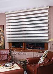 Ekru Çizgili KremParadise Zebra Perde - 4