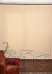 Ekru Dikey Kumaş Perde 89mm - 4