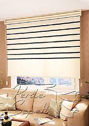 İkili Perde (Ön Ekru-Siyah Bamboo Star Zebra Perde-Arka Ekru Stor) - 1