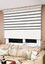 İkili Perde (Ön Ekru-Siyah Bamboo Star Zebra Perde-Arka Ekru Stor) - 4