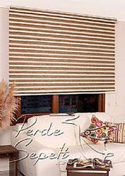 Ekru-Kahve Bamboo Star Zebra - 5