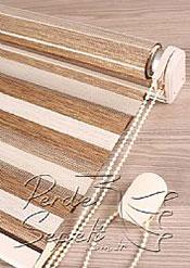 Ekru-Kahve Bamboo Star Zebra - 7