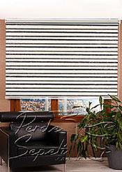 Ekru-Siyah Bamboo Star Zebra Perde - 3