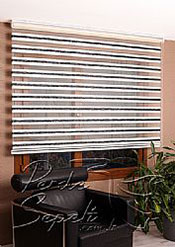 Ekru-Siyah Bamboo Star Zebra Perde - 4
