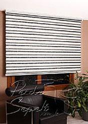 Ekru-Siyah Bamboo Star Zebra Perde - 5