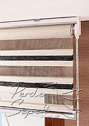 Ekru-Siyah Bamboo Star Zebra Perde - 6