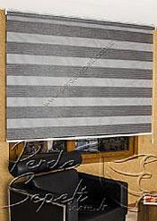 Füme Geniş Pileli Ekonomik Zebra Perde - 5