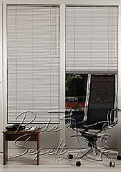 Gri Beyaz Desenli Alüminyum Jaluzi 25mm Perde - 3