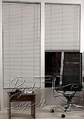 Gri Beyaz Desenli Alüminyum Jaluzi 25mm Perde - 4