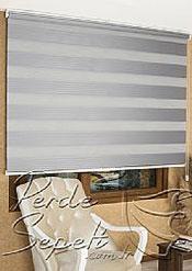 Gri Geniş Pileli Zebra Perde - 5