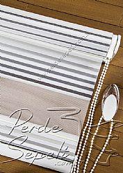 Gri Pileli Lotus Zebra Perde - 7