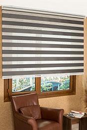 Gri Siyah Çizgili Pileli Zebra Perde