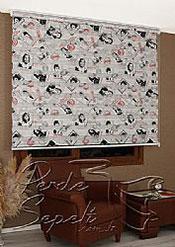 Hollywood Baskılı Zebra Perde - 5