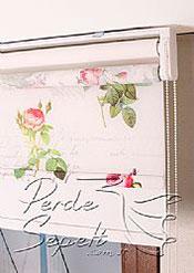 İkili Perde( Ön Aşk Hikayesi Design Tül Stor Arka Beyaz Neo Classic Stor) - 5