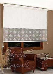İkili Perde( Ön Beyaz Çiçek Dantella Arka Beyaz  Neo Classic  Stor) - 4