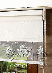 İkili Perde( Ön Beyaz Çiçek Dantella Arka Beyaz  Neo Classic  Stor) - 6