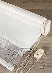 İkili Perde( Ön Beyaz Çiçek Dantella Arka Beyaz  Neo Classic  Stor) - 7