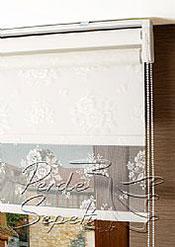 İkili Perde( Ön Ekru Çiçek Dantella Arka Beyaz Neo Classic  Stor) - 6
