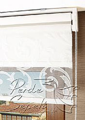 İkili Perde( Ön Ekru Şal Dantella Arka Beyaz Neo Classic  Stor) - 6