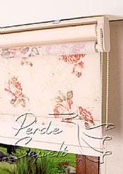 İkili Perde( Ön Güller Design Stor Arka Ekru Neo Classic Stor ) - 5