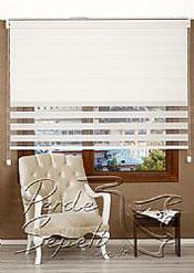 İkili Perde( Ön Kar Beyaz Panorama Zebra Arka Beyaz Neo Classic Stor) - 2