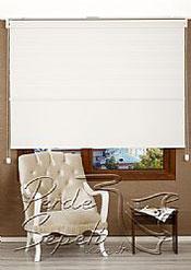 İkili Perde( Ön Kar Beyaz Panorama Zebra Arka Beyaz Neo Classic Stor) - 3