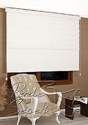 İkili Perde( Ön Kar Beyaz Panorama Zebra Arka Beyaz Neo Classic Stor) - 5