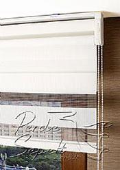 İkili Perde( Ön Kar Beyaz Panorama Zebra Arka Beyaz Neo Classic Stor) - 6
