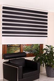 İkili Perde( Ön Siyah Panorama Zebra Arka Beyaz Galaxy Stor) -