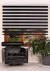 İkili Perde( Ön Siyah Panorama Zebra Arka Beyaz Galaxy Stor) - 2