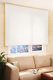 İkili Perde(Ön Beyaz Çiçek Desenli Dantella Stor Perde Arka Beyaz Basic Stor Perde) - 1
