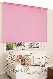 İkili Perde(Ön Beyaz Çiçek Desenli Dantella Stor Perde Arka Şeker Pembe Basic Stor Perde)