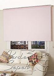 İkili Perde(Ön Beyaz Çiçek Desenli Dantella Stor Perde Arka Toz Pembe Neo Classic Stor Perde) - 3