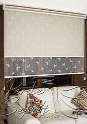İkili Perde(Ön Beyaz Kelebek Desenli Deluxe Dantella Arka Krem Galaxy Star Stor Perde) - 4