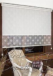İkili Perde(Ön Beyaz Top Desenli Deluxe Dantella Arka Beyaz Basic Stor Perde) - 4