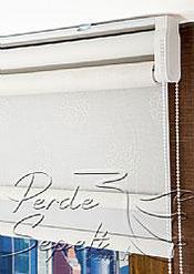 İkili Perde(Ön Beyaz Top Desenli Deluxe Dantella Arka Beyaz Basic Stor Perde) - 5