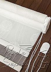 İkili Perde(Ön Beyaz Top Desenli Deluxe Dantella Arka Beyaz Basic Stor Perde) - 6
